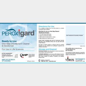 PRTU242020 Peroxigard® RTU Labels, self-adhesive, (pack of 25)